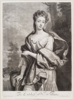 Diana Beauclerk (née de Vere), Duchess of St Albans, by and published by John Smith, after  Sir Godfrey Kneller, Bt, 1694 - NPG D11595 - © National Portrait Gallery, London