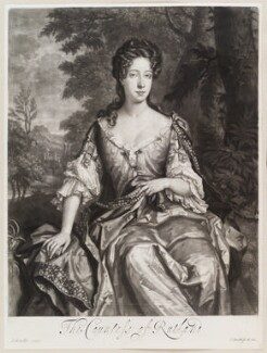Catherine Manners (née Noel), Duchess of Rutland, by and published by John Smith, after  Sir Godfrey Kneller, Bt, 1689 - NPG D11597 - © National Portrait Gallery, London