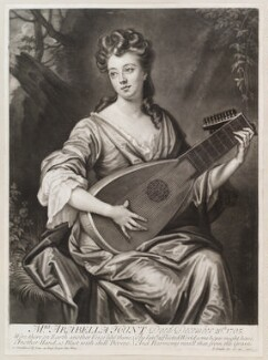 Arabella Hunt, by and published by John Smith, after  Sir Godfrey Kneller, Bt, 1706 - NPG  - © National Portrait Gallery, London