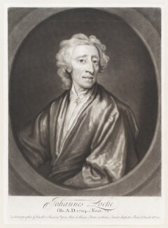 John Locke, by John Smith, after  Sir Godfrey Kneller, Bt - NPG D11501