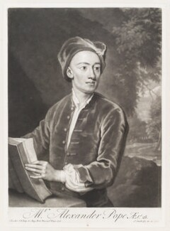 Alexander Pope, by and published by John Smith, after  Sir Godfrey Kneller, Bt, 1717 (1716) - NPG D11502 - © National Portrait Gallery, London
