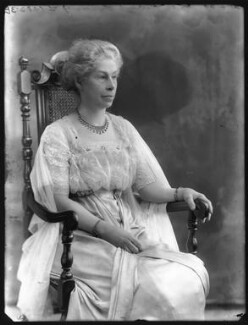 Kate Harriet (née Burfield), Lady Lindsay, by Bassano Ltd, 21 April 1920 - NPG x120486 - © National Portrait Gallery, London
