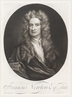 Sir Isaac Newton, by and published by John Smith, after  Sir Godfrey Kneller, Bt - NPG D11505