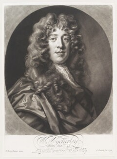 William Wycherley, by John Smith, after  Sir Peter Lely, 1703 - NPG  - © National Portrait Gallery, London
