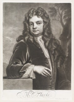 Sir Richard Steele, by John Simon, sold by  John Smith, after  Sir Godfrey Kneller, Bt - NPG D11511