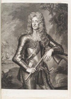King James II when Duke of York and Lord High Admiral, by John Smith, after  Sir Godfrey Kneller, Bt, 1697 - NPG D11515 - © National Portrait Gallery, London