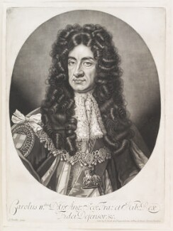 King Charles II, by Robert Williams, published by  John Smith, after  Sir Godfrey Kneller, Bt - NPG D11519
