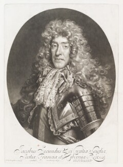 King James II, by John Smith, published by  Alexander Browne, after  Nicolas de Largillière, 1686 - NPG  - © National Portrait Gallery, London