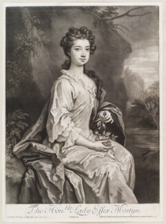 Lady Essex Mostyn (née Finch), by and published by John Smith, after  Sir Godfrey Kneller, Bt, 1705 (1705) - NPG D11602 - © National Portrait Gallery, London