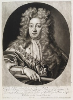 Prince George of Denmark, Duke of Cumberland, by and published by John Smith, after  Sir Godfrey Kneller, Bt, 1706 (1704) - NPG D11533 - © National Portrait Gallery, London
