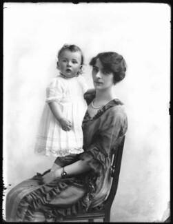 Lady Marjorie Gwendolen Rowley (née Cochrane); John Charles Cochrane Fydell Rowley, by Bassano Ltd - NPG x120534