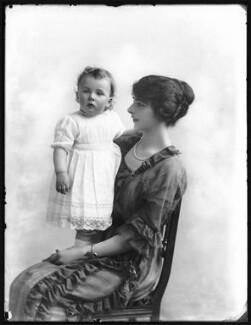 Lady Marjorie Gwendolen Rowley (née Cochrane); John Charles Cochrane Fydell Rowley, by Bassano Ltd - NPG x120535
