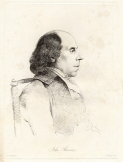 John Flaxman, by William Daniell, after  George Dance - NPG D12064