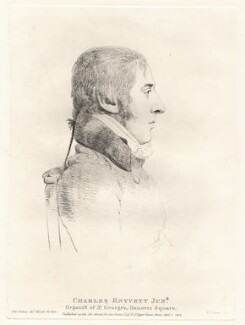 Charles Knyvett, by William Daniell, after  George Dance - NPG D12082
