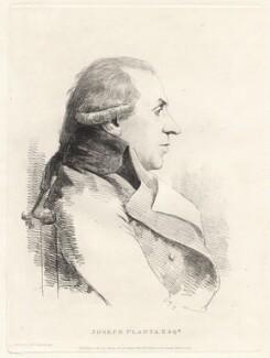 Joseph Planta, by William Daniell, after  George Dance - NPG D12091