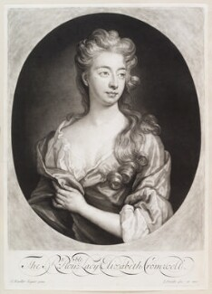 Elizabeth Southwell (née Cromwell), Lady Cromwell, by and published by John Smith, after  Sir Godfrey Kneller, Bt, 1699 - NPG D11604 - © National Portrait Gallery, London