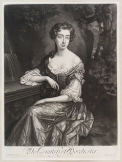 Catherine Sedley, Countess of Dorchester, by Isaac Beckett, published by  John Smith, after  Sir Godfrey Kneller, Bt - NPG D11605