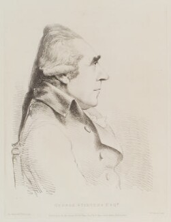 George Steevens, by William Daniell, after  George Dance - NPG D12114