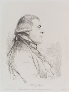 Alan Gardner, 1st Baron Gardner, by and published by William Daniell, after  George Dance, published 1 April 1809 (10 July 1794) - NPG D12126 - © National Portrait Gallery, London