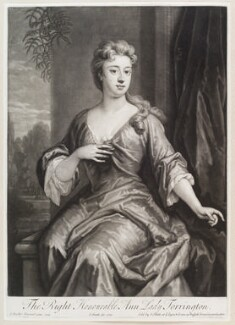Anne Newport (née Pierrepont or Pierpont), Lady Torrington, by and published by John Smith, after  Sir Godfrey Kneller, Bt, 1720 (1709) - NPG D11609 - © National Portrait Gallery, London