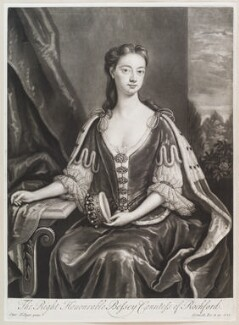 Bessey Nassau van Zuylestein (née Savage), Countess of Rochford, by and published by John Smith, after  Charles D'Agar, 1723 - NPG  - © National Portrait Gallery, London