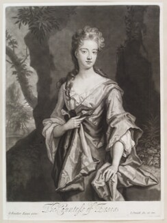 Mary Capel (née Bentinck), Countess of Essex, by and published by John Smith, after  Sir Godfrey Kneller, Bt - NPG D11615