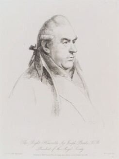 Sir Joseph Banks, Bt, by William Daniell, after  George Dance - NPG D12161