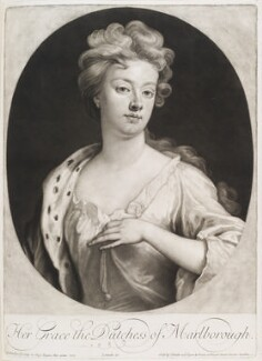 Sarah Churchill (née Jenyns (Jennings)), Duchess of Marlborough, by and published by John Smith, after  Sir Godfrey Kneller, Bt, 1705 (1705) - NPG D11544 - © National Portrait Gallery, London