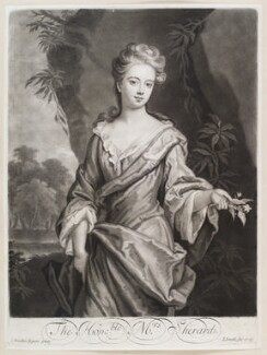 Lucy Manners (née Sherard), Duchess of Rutland ('The Honble: Mrs. Sherard.'), by and published by John Smith, after  Sir Godfrey Kneller, Bt, 1699 - NPG D11621 - © National Portrait Gallery, London