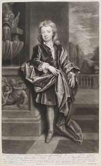John Churchill, Marquess of Blandford, by and published by John Smith, after  Sir Godfrey Kneller, Bt, 1708 (circa 1695) - NPG D11545 - © National Portrait Gallery, London