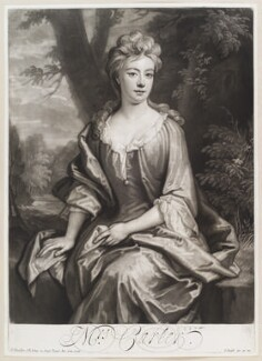 Mrs Carter, by and published by John Smith, after  Sir Godfrey Kneller, Bt, 1707 (1706) - NPG D11622 - © National Portrait Gallery, London