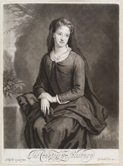Frances Cecil (née Bennett), Countess of Salisbury, by and published by John Smith, after  Sir Godfrey Kneller, Bt - NPG D11625