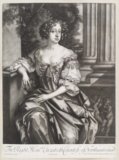 Elizabeth Montagu (née Wriothesley), Countess of Montagu when Countess of Northumberland, by Isaac Beckett, published by  Alexander Browne, after  Sir Peter Lely - NPG D11626