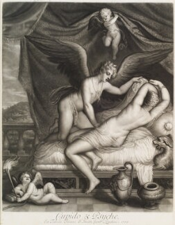 'Loves of the Gods': Cupid and Psyche, by John Smith, after  Titian - NPG D11716