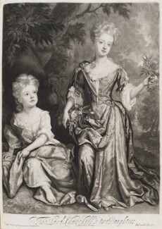 Countess of Sunderland and Duchess of Marlborough, by and published by John Smith, after  Sir Godfrey Kneller, Bt, 1688 (1688) - NPG  - © National Portrait Gallery, London