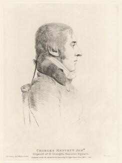 Charles Knyvett, by William Daniell, after  George Dance - NPG D12206