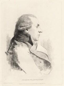 Joseph Planta, by William Daniell, after  George Dance - NPG D12210