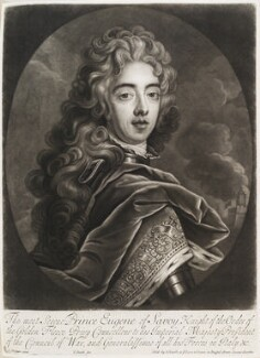 Prince Eugène of Savoy, by and published by John Smith, after  David Richter I, 1706 - NPG  - © National Portrait Gallery, London