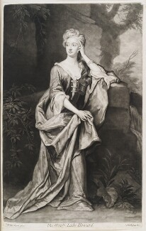 Anabella (née Dives), Lady Howard, by and published by John Smith, after  Sir Godfrey Kneller, Bt, 1697 (1697) - NPG D11548 - © National Portrait Gallery, London
