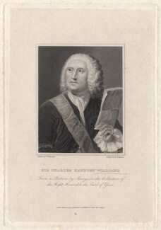 Sir Charles Hanbury Williams, by Richard Rhodes, published by  W. Walker, after  Anton Raphael Mengs - NPG D8594