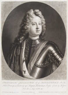 Frederick William I, King of Prussia, by and published by John Smith, after  Friedrich Wilhelm Weidemann, 1715 (1714) - NPG D11636 - © National Portrait Gallery, London
