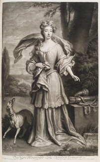 Elizabeth Southwell (née Cromwell), Lady Cromwell, by and published by John Smith, after  Sir Godfrey Kneller, Bt, 1702 - NPG D11550 - © National Portrait Gallery, London