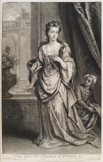 Mary Butler (née Somerset), Duchess of Ormonde and an unknown boy, by and published by John Smith, after  Sir Godfrey Kneller, Bt - NPG D11551