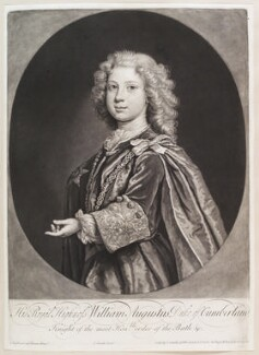 William Augustus, Duke of Cumberland, by and published by John Smith, after  Joseph Highmore - NPG D11644