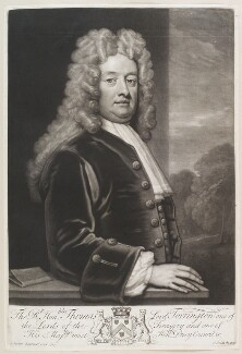 Thomas Newport, Baron Torrington, by John Smith, after  Sir Godfrey Kneller, Bt, 1720 (1714) - NPG D11647 - © National Portrait Gallery, London