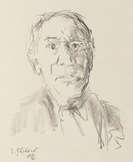 Josef Paul Hodin, by Oskar Kokoschka, 1964 - NPG 6615 - © estate of Josef Paul Hodin