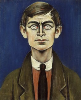 L.S. Lowry, by L.S. Lowry, 1938 - NPG  - © Rothschild Trust Company Inc; on loan to the National Portrait Gallery, London