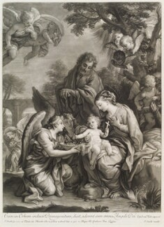 Holy Family and Angels, by and published by John Smith, after  Carlo Maratta - NPG D11717