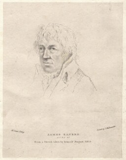 James Sayers, by Maxim Gauci, published by  Charles Joseph Hullmandel, after  James Sayers - NPG D12232