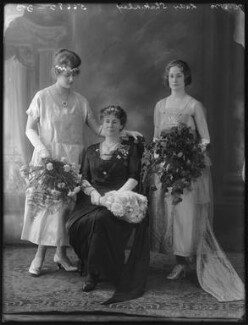 Sylvia Mary Chew; Hilda Mary (née Hodgson), Lady Shakerley; Moira Veronica Loram, by Bassano Ltd - NPG x74895